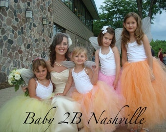 Wedding Dress Skirt Flower Girl Dress Skirt Girls Skirt Tutu Skirt Tulle Skirt Baby Skirt Toddler Skirt Baby Tutu Skirt Toddler Tutu Skirt
