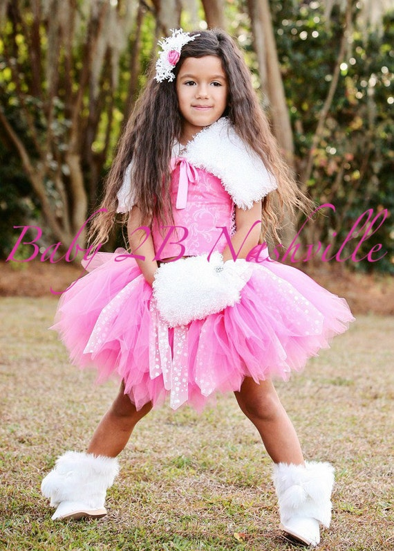 Snow Fairy Pink Princess Tutu Set Pageant Wear Baby to 2T