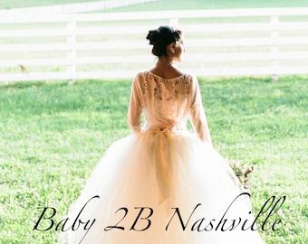 Ivory Tutu Skirt Wedding Separates Adult Tulle  Skirt Ivory Tutu Women's Long Ivory Skirt Ivory Bridal Tutu Skirt