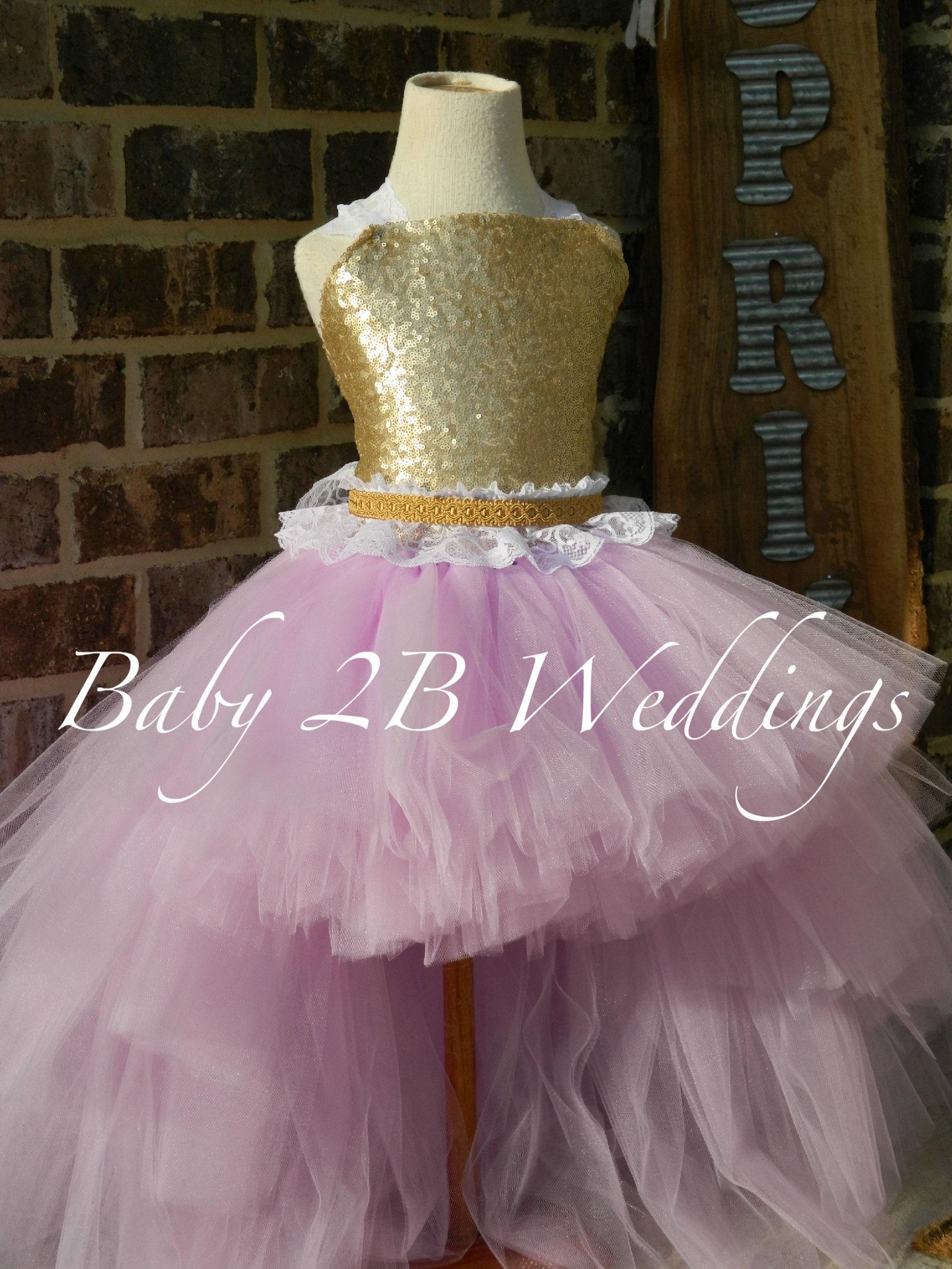 631aad877 Gold Dress Sequin Dress Flower Girl Dress Lilac Dress Purple Dress ...