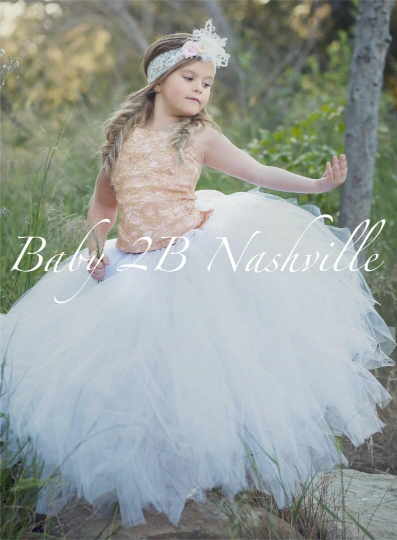 f33036d372 Rose Gold Dress Lace Dress Flower Girl Dress Tulle Dress
