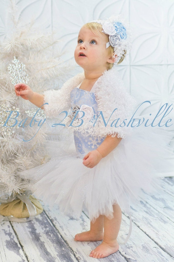 Winter Onederland Snow Princess Baby to Toddler Tutu Complete Set