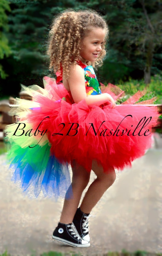 Baby Parrot Costume Baby Tutu Costume Bird Costume Jungle Party Costume Halloween Costume Pirate Parrot Costume Tutu Set  All Sizes Baby - 8