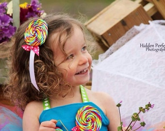 Girls Candyland Lollipop Headband