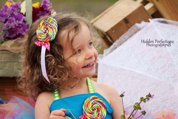 Girls Candyland Lollipop clip