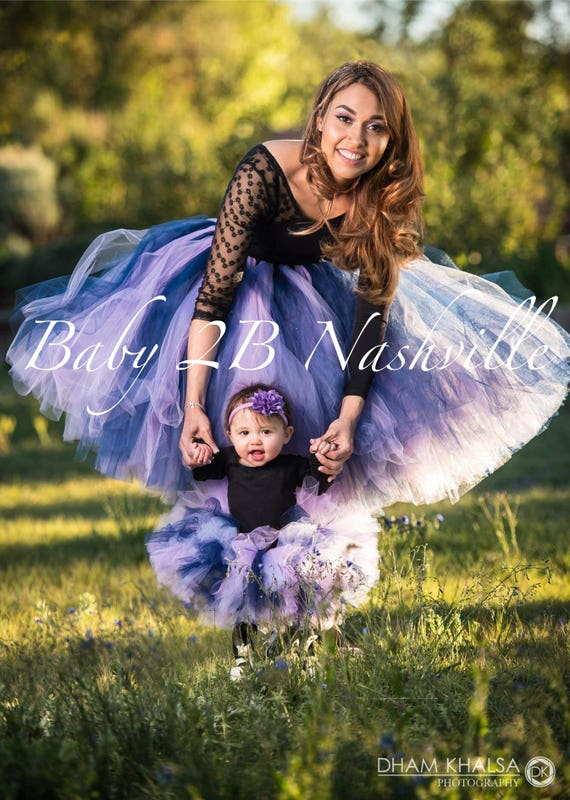 Navy Tutu  Lavender Tutu Baby Tutu Toddler Tutu Mommy and Me Tutu Tutu Skirt Navy Skirt Lavender Skirt Purple Baby Skirt Toddler Skirt