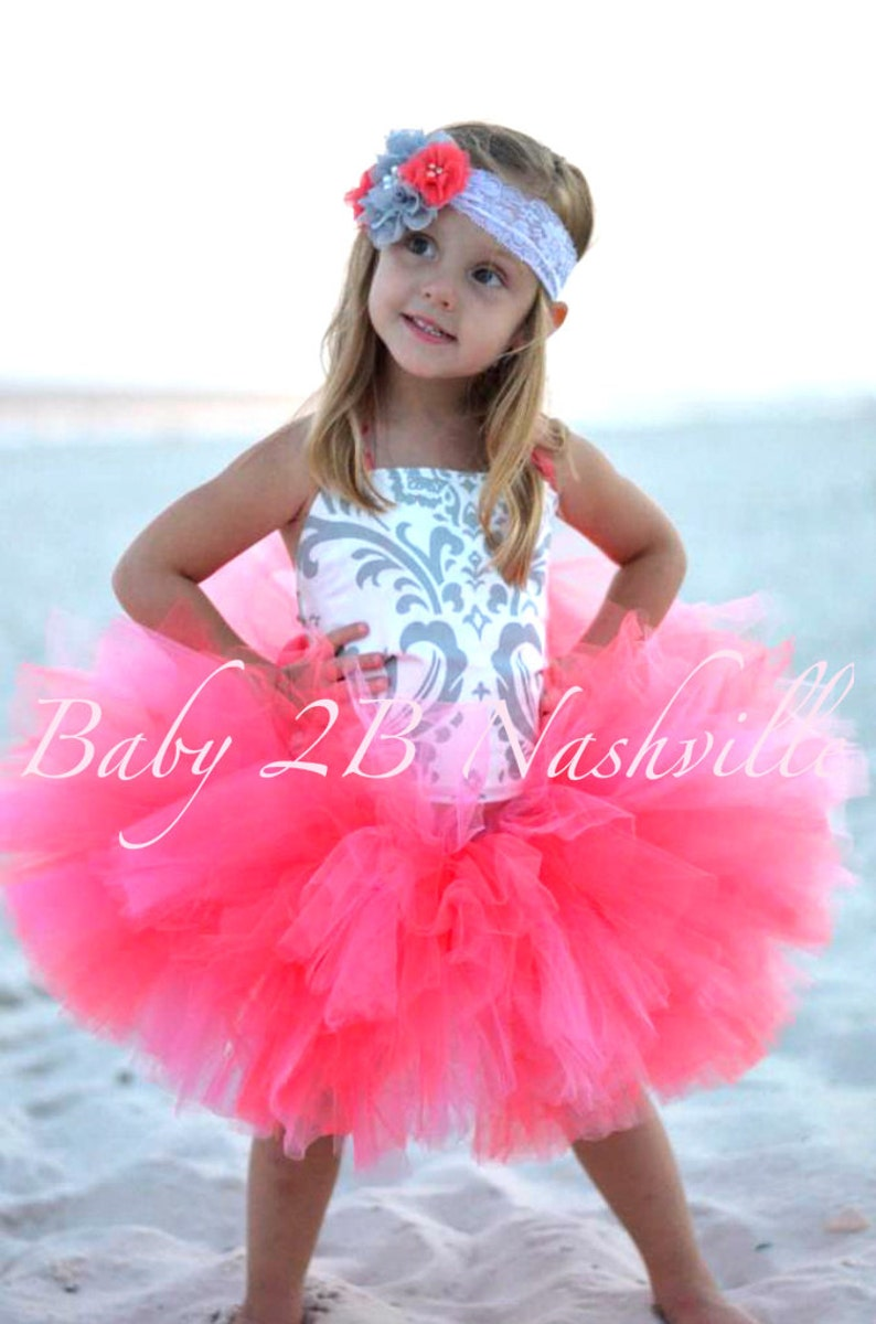 fa77e6563be Beach Wedding Dress Flower Girl Dress Baby Girl Dress Coral