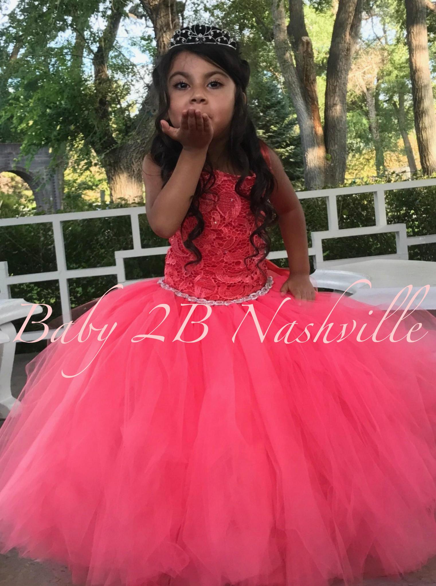 95f7e4406d1 Coral Flower Girl Dress Wedding Dress Coral Dress Coral Lucky ...