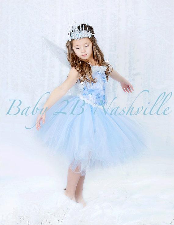 Winter Snow Fairy Costume  Icy Fairy Snow Princess Costume Complete Set