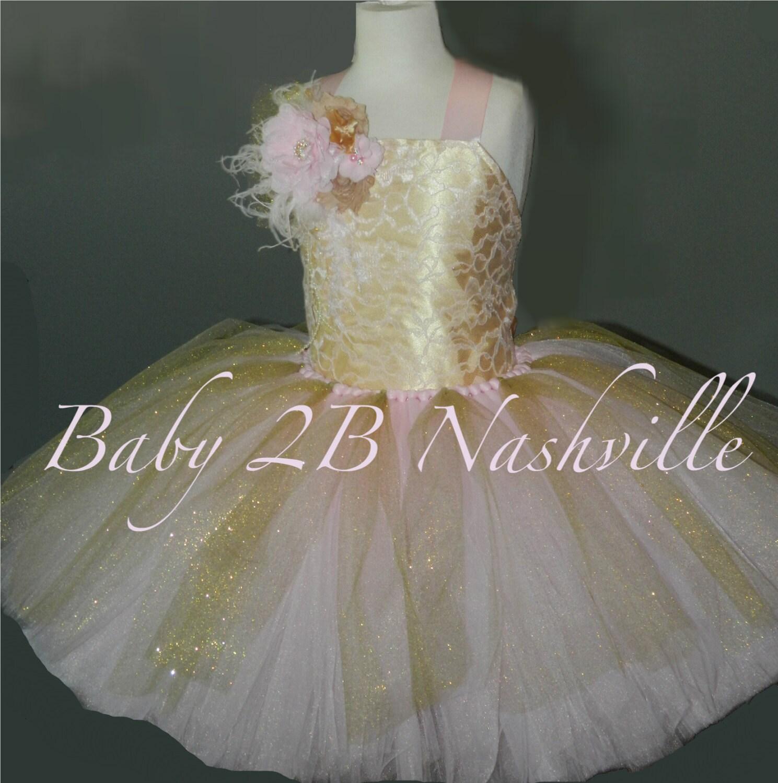 c20ed661c Pink And Gold Flower Girl Dresses - raveitsafe
