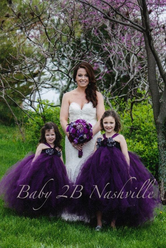 Plum Dress Tulle Dress Tutu Dress Party Dress Birthday Dress Wedding Dress Flower Girl Dress Baby Dress Toddler Dress Girls Dress
