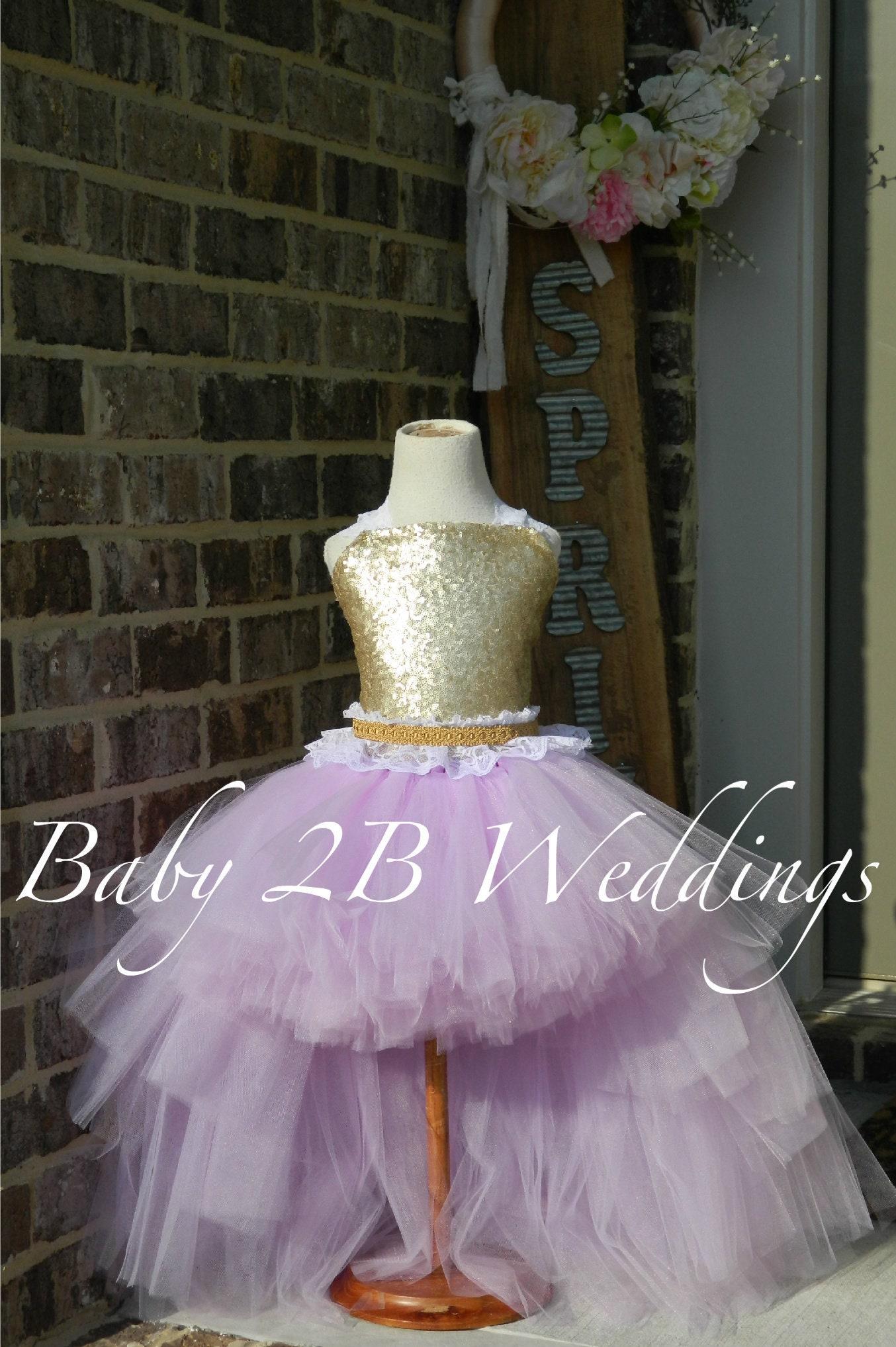 adc70f578 Gold Dress Sequin Dress Flower Girl Dress Lilac Dress Purple Dress ...