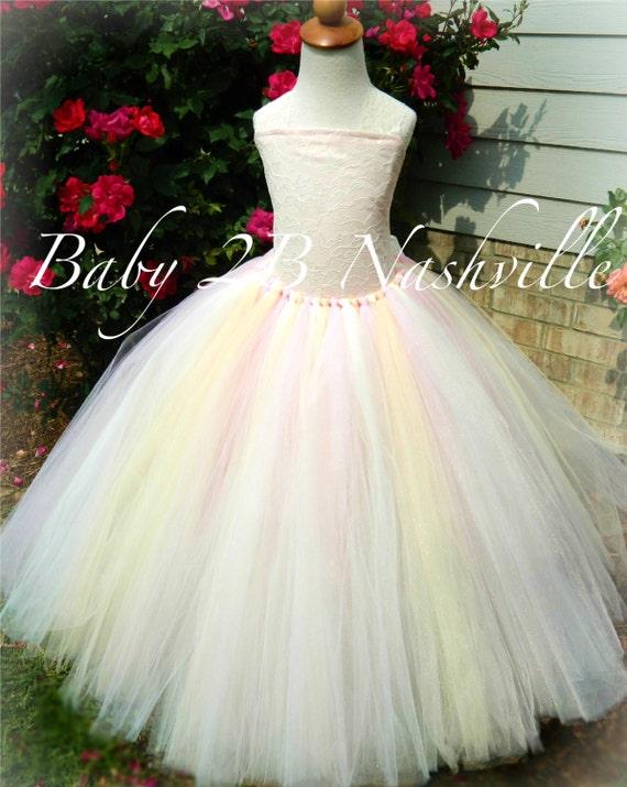 Vintage Blended Blush Lace Flower Girl Dress, Wedding Flower Girl  Dress, Ivory Lace Tutu Dress,All Sizes Girls