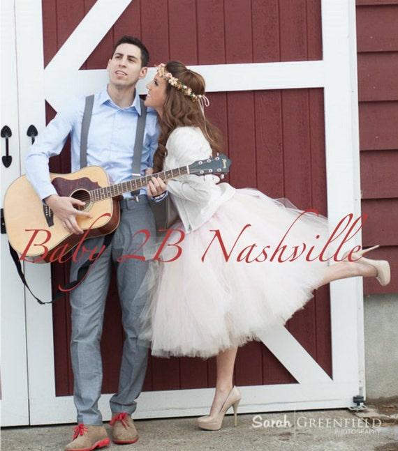 Blush Adult Tutu Cocktail Length  Bridal Tutu  Perfect for Weddings and Portraits