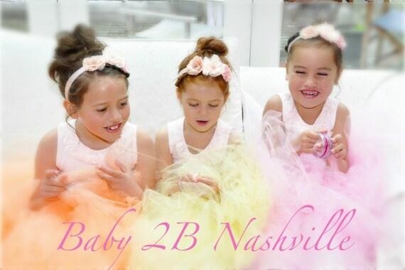 Wedding Dress Skirt  Flower Girl Tutu Skirt  Girls Tulle Skirt Baby Skirt Toddler Tutu Skirt Pink Skirt Peach Skirt Yellow Skirt Any Color