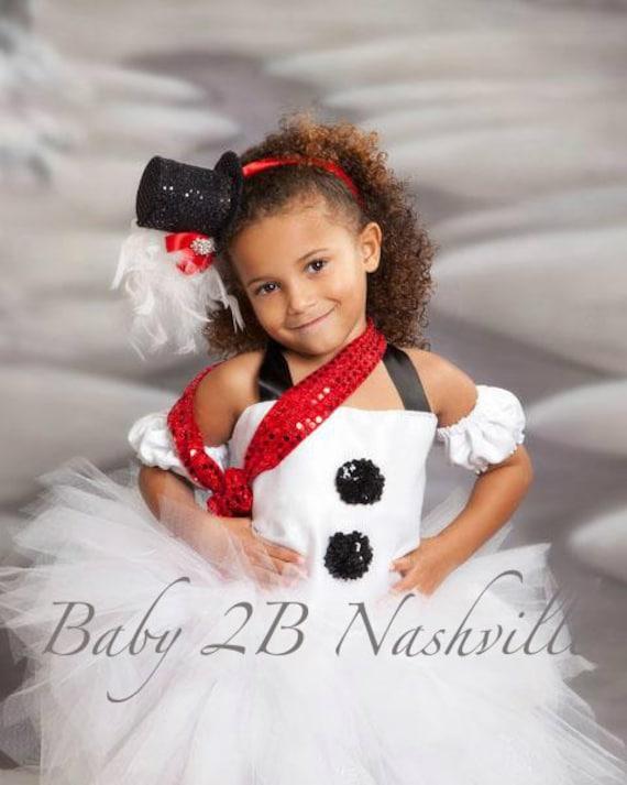 Baby Basic Winter Snowman Tutu Dress Snowman Costume