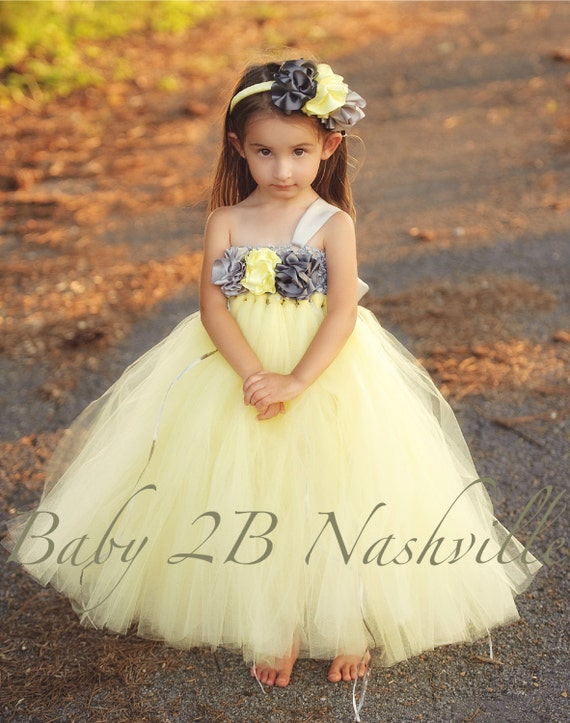 Yellow Flower Girl Dresses for Toddlers