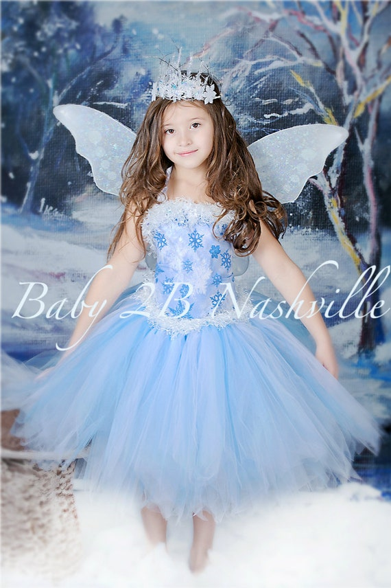 sc 1 st  Etsy & Winter Fairy Costume Baby Costume Snow Fairy Costume Princess