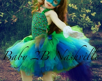 Peacock Costume Tutu Set  All Sizes Baby - 8