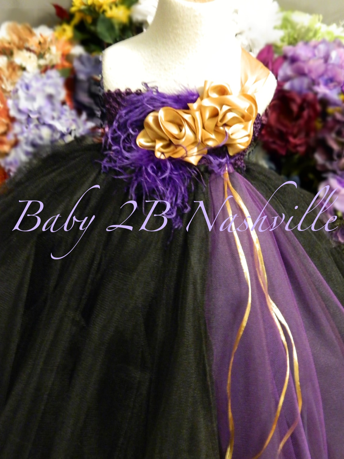 d454b693a Gold Flower Girl Dress Tulle Dress Tutu Dress Black Dress Purple Baby Dress  Toddler Dress Wedding Dress Party Dress Plum Baby Dress