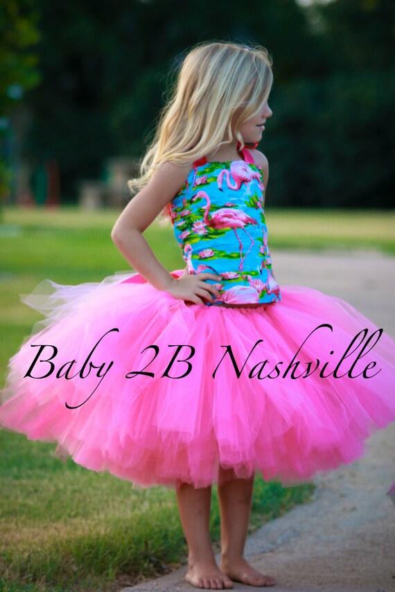 Pink Flamingo Costume Tutu Set  All Sizes Baby - 8