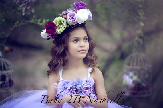 Lavender Dress Flower Girl Dress Floral Dress Lilac Dress Wedding Dress Party Dress Birthday Dress Baby Tutu Dress Toddler Dress Tulle Dress