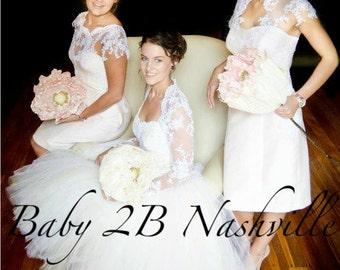 Womens Bridal Tutu Skirt Tulle Skirt in Ivory and Cream  All Sizes