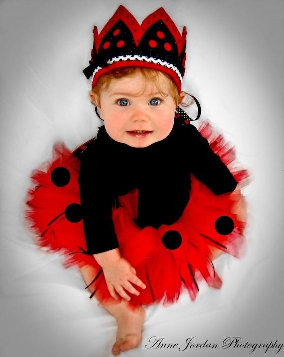 Baby Lady Bug Tutu Makes Great Costume Photo Prop