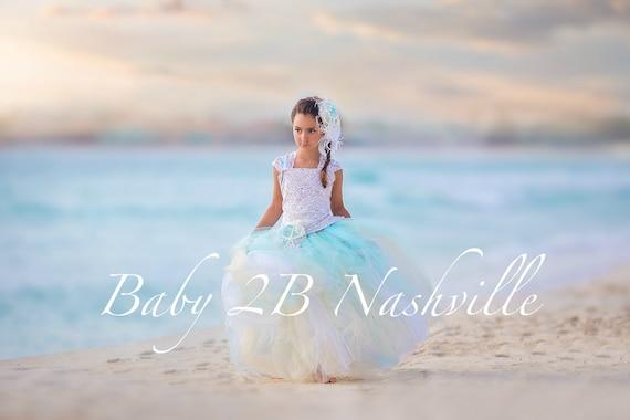 Beach Wedding Dress Flower Girl Dress Tulle Dress Wedding Dress Party Dress Birthday Dress Toddler Tutu Dress Girls Dress