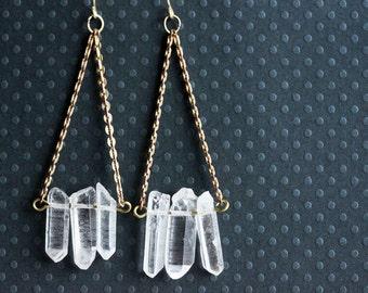 Crystal Trapeze Earrings Swing Earrings Bohemian Jewelry