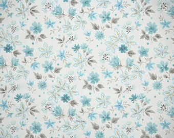1940s Vintage Wallpaper By The Yard Tiny Blue And Pink