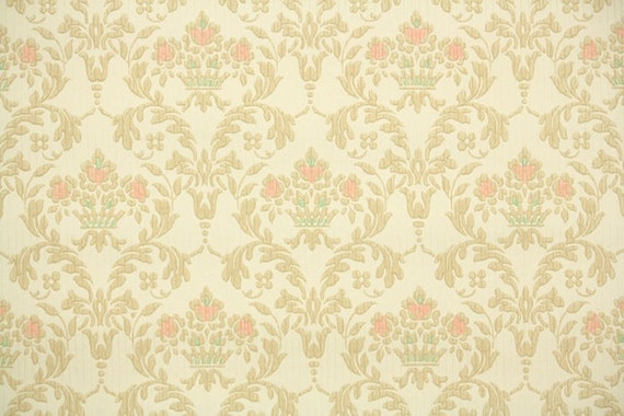 1930s Vintage Wallpaper By The Yard Antique Victorian Style Damask