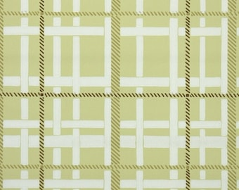 1940s Vintage Wallpaper by the Yard - Plaid Vintage Wallpaper of Yellow and White