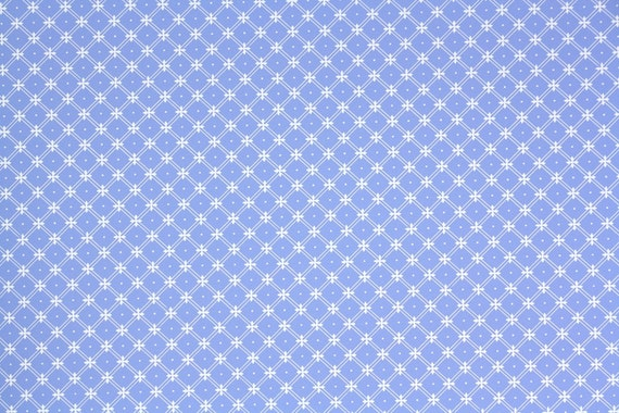1970s Vintage Wallpaper Laura Ashely Periwinkle And White Geometric