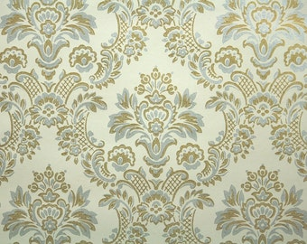 Vintage Wallpaper - Metallic Gold and Silver Damask