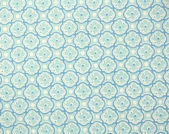 1950s Vintage Wallpaper by the Yard - Nancy McClelland Vintage Wallpaper Blue and White Geometric
