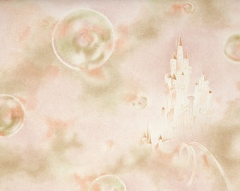 1930s Vintage Wallpaper by the Yard - Castles and Bubbles Vintage Wallpaper