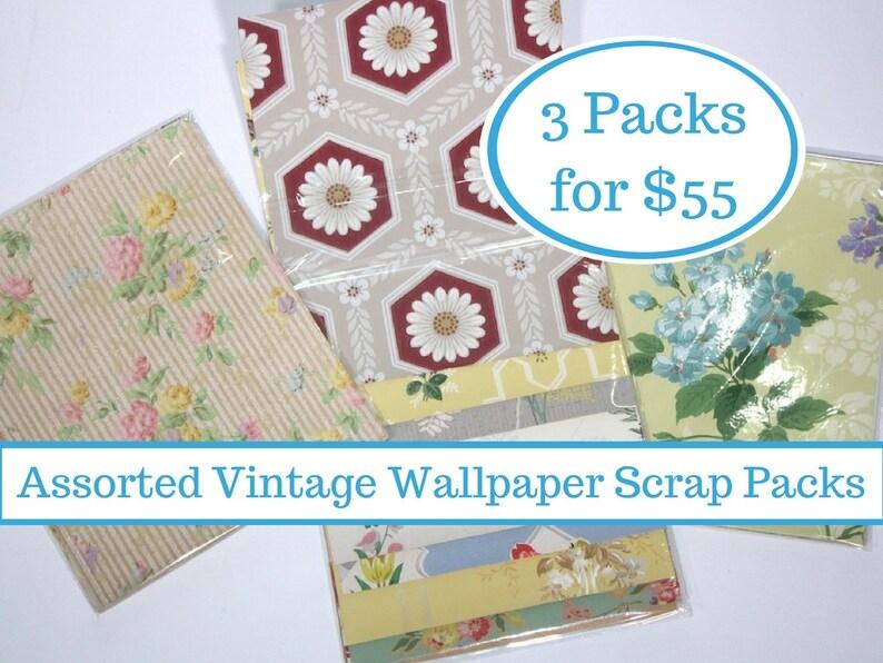 Assorted Vintage Wallpaper Collage Packs Grab Bag Surprise Of Etsy