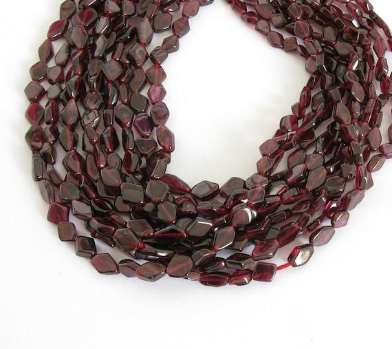 4mm Bicone Garnet Bead Strand Red Garnets Faceted Red Bicone Beads Full Strand Faceted Genuine Red Garnets Bead Strand Genuine Gemstone