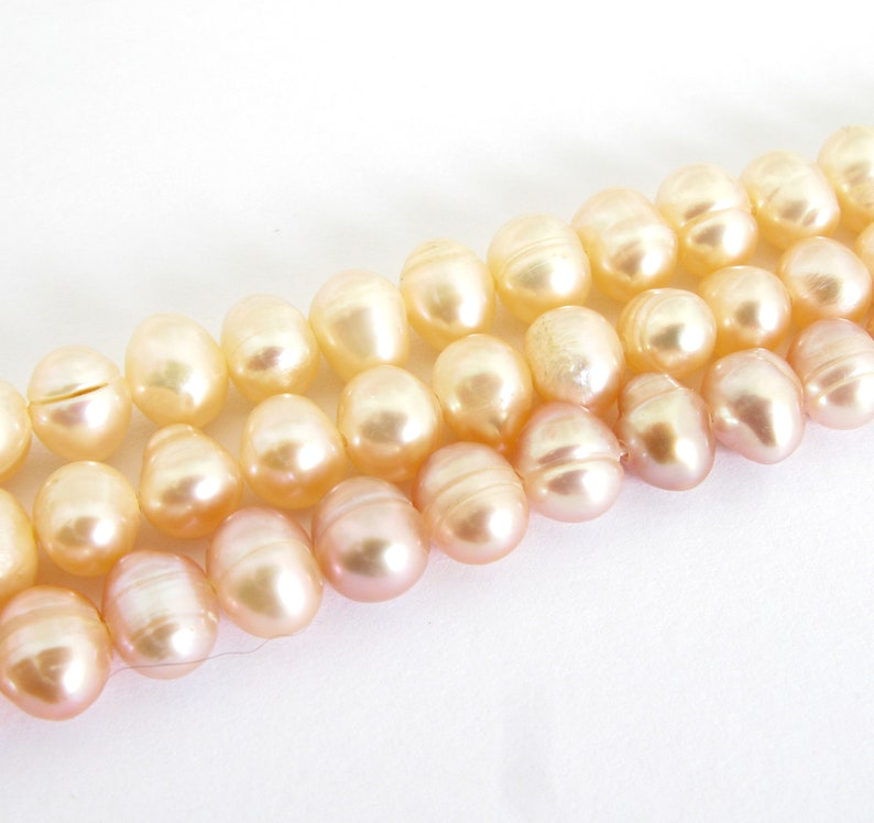 6mm Round Potato Pearls Genuine Pearls Pearl213 6mm Full Strand Freshwater Pearls Choose Peach or Mauve Pearls Freshwater Pearls