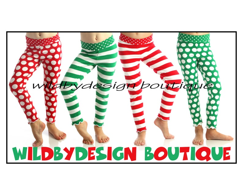 c2cf62cc276 Christmas leggings baby toddler leggings red and white stripe
