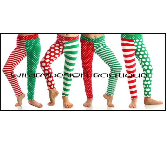 Christmas Leggings Baby Leggings Toddler Leggings Red And Etsy