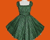 40s 50s Rockabilly Swing Leopard Dress Pin Up Plus Size 22 24 26 Green Leo Cheetah