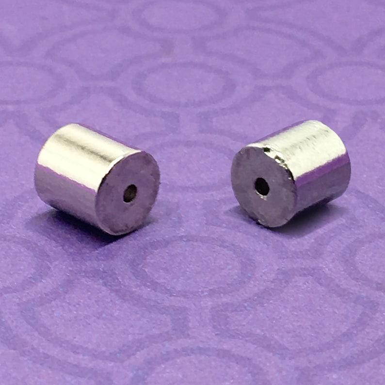 3 6 pcs Economy Magnetic Tube Clasps Extra Strong Shiny image 0