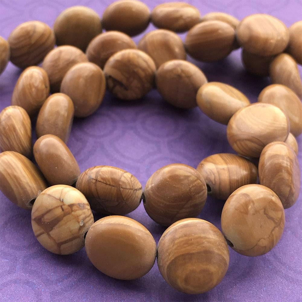 Wood Jasper Coin Beads