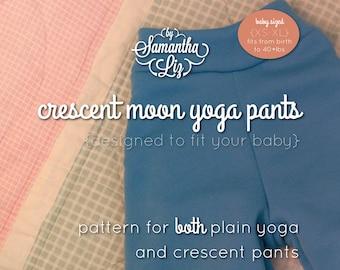 Crescent Moon Yoga Pants Pattern