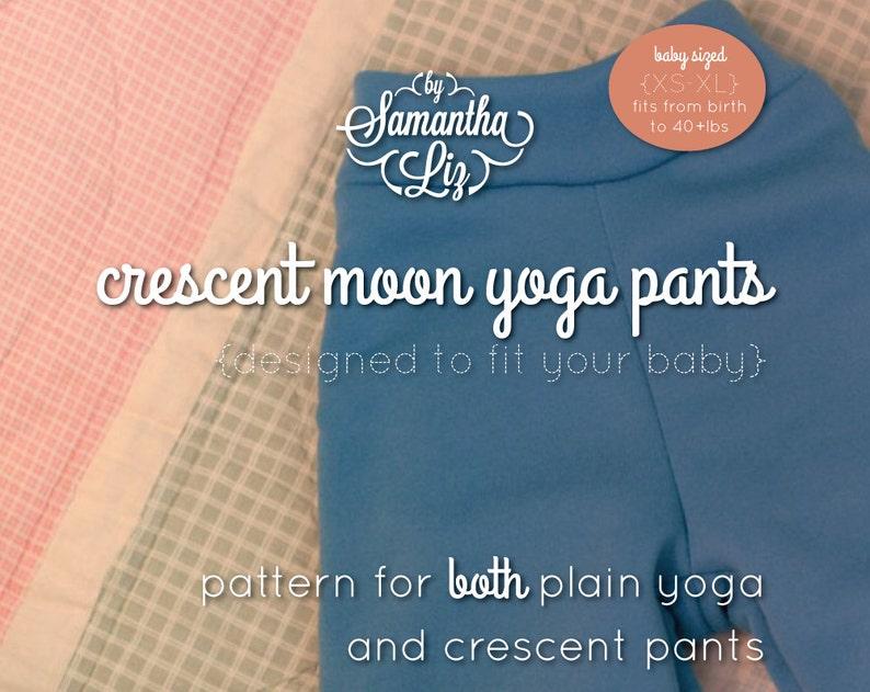 Crescent Moon Yoga Pants Pattern image 0