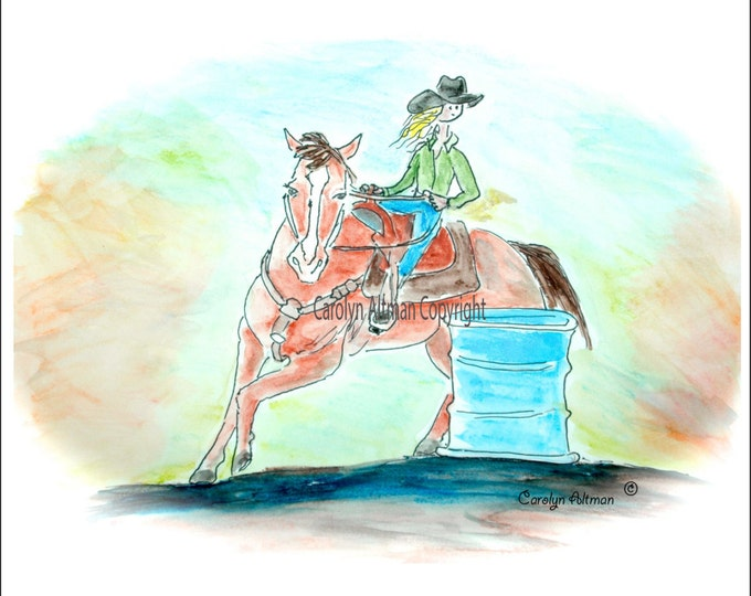 Little Barrel Racer Baby Memory Book