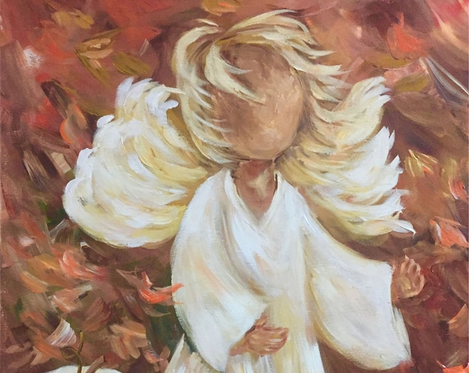 Give Thanks to the Lord for He is good | Angel Painting | Note Cards
