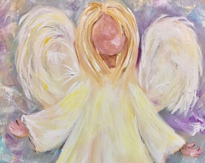 Angel of Love Painting, Prints and Note Cards